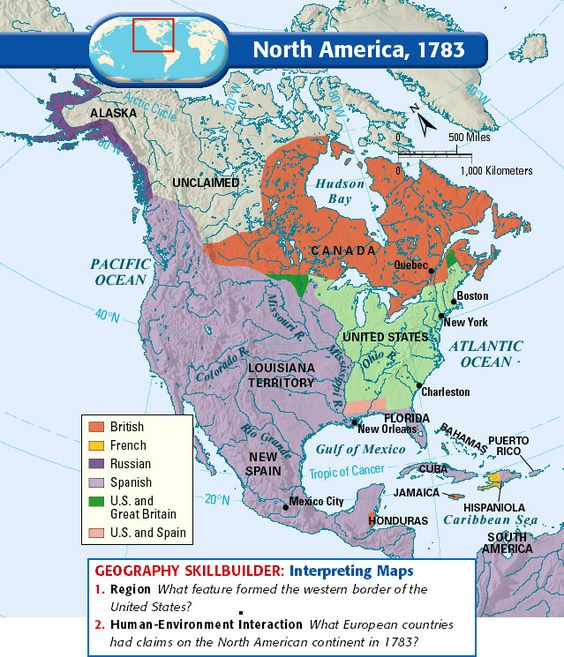 North America, 1783: