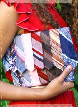 clutch made from vintage men's ties; now this is a great way to repurpose those old ties!