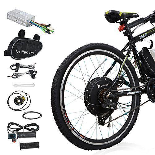 Voilamart 36v 500w Electric Bike Conversion Kit 26 Rear Wheel Hub Motor Intelligent Controller And Pas System Electric Bicycle Kit Electric Bicycle Electric Bike Conversion