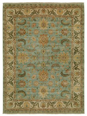 "Oushak Hand-Knotted Rug (9'x12'1"") by FJ Kashanian  on Gilt Home"