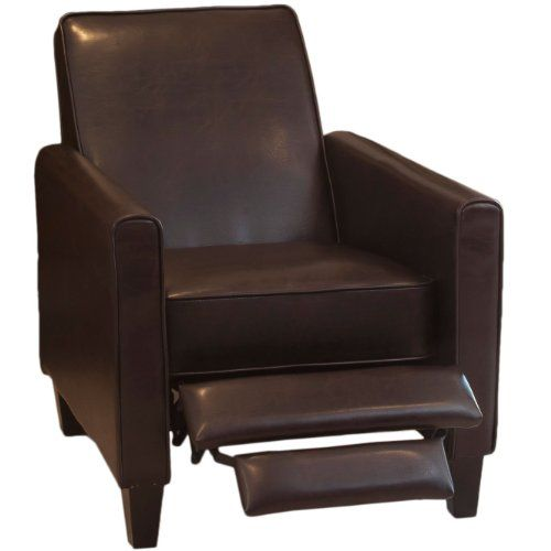Deal Furniture: Lucas Brown Leather Recliner Club Chair Great Deal