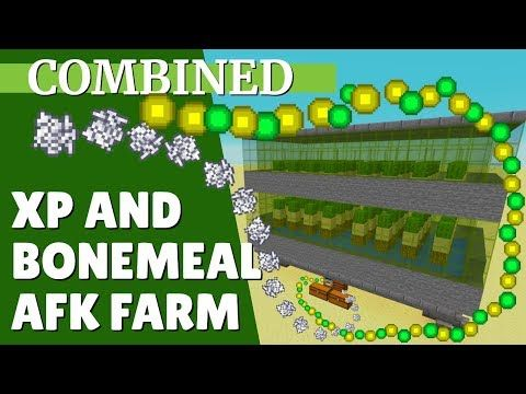 Minecraft Xp Farm And Bonemeal Farm Combined For 1 14 Afk Xp And Bonemeal With Avomance 2019 You Minecraft Farm Minecraft Survival Minecraft Enchantments