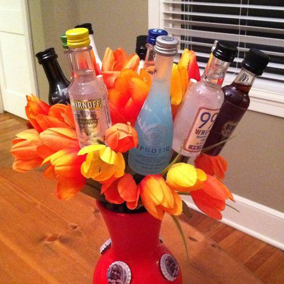 19th Birthday bouquet! lol: Good Ideas, Gift Ideas, Cute Ideas, Basket Ideas, 21St Birthday Bouquet, 19Th Birthday, Paarty Ideas, Party Ideas, Lb Ideas