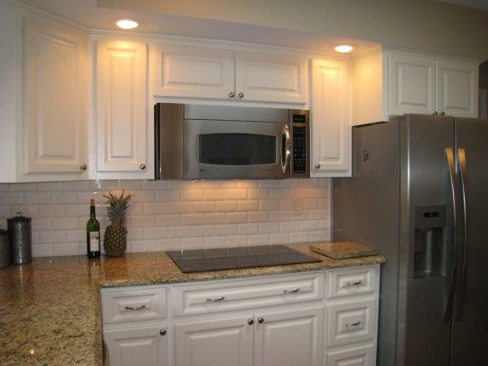 Venetian Gold Granite White Subway Tiles And Granite