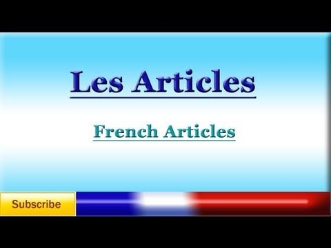 French Lesson 8: Partitive Articles, Quantities and Negations - YouTube