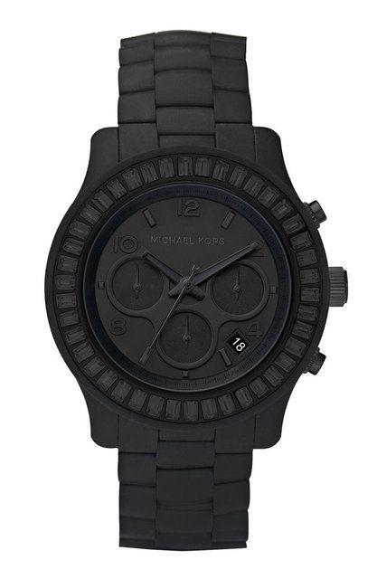 Michael Kors. Matte black watch.