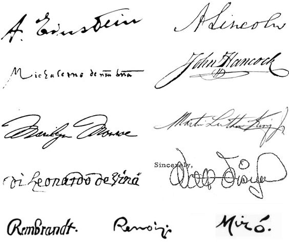 Signatures- original and very - 35.3KB