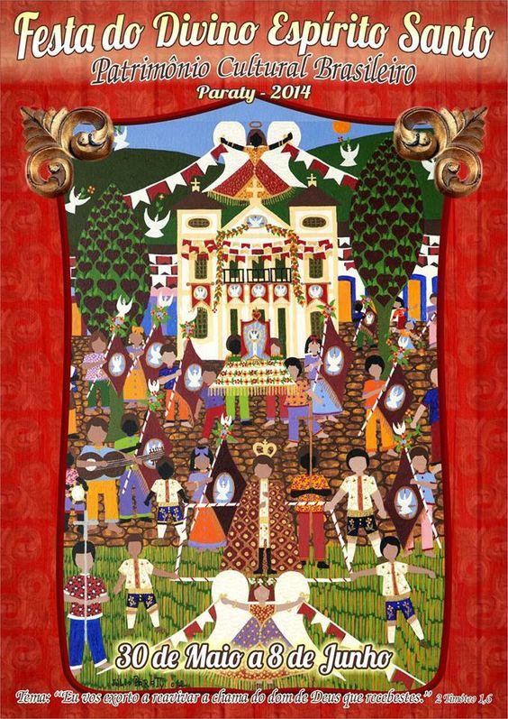 Festa do Divino, de 30 de maio a 8 de junho.  #PousadaDoCareca #Paraty #FestaDoDivino #evento #cultura #turismo