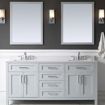 Tahoe 73 Double Bathroom Vanity Set With Mirror Bad