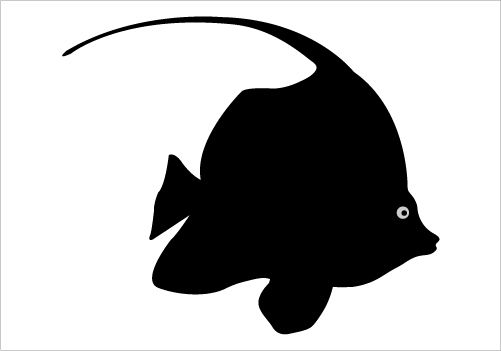 ocean fish shilohuette...
