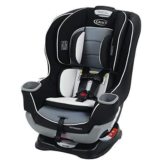 Graco Extend 2 Fit Baby Car Seat 4 65lbs Convertible 5pt Harness Gotham Black Graco Baby Car Seats Best Convertible Car Seat Convertible Car Seat