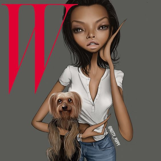 Illustration inspired by @tarajiphenson x @wmag cover styled by @edward_enninful ❤️❤️❤️ #ThePopIssue #tarajiphenson #wmag #wmagazine #edwardenninful #beautifulinsideandout #yorkie #unclewillie #puppylove #sexystrong #fashionillustration #fashionsketch #illustration #nuttypuppy
