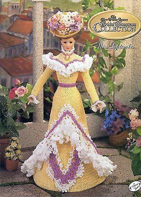 Annie's Attic Potter Miss September Bridal Trousseau Doll Crochet Pattern Book