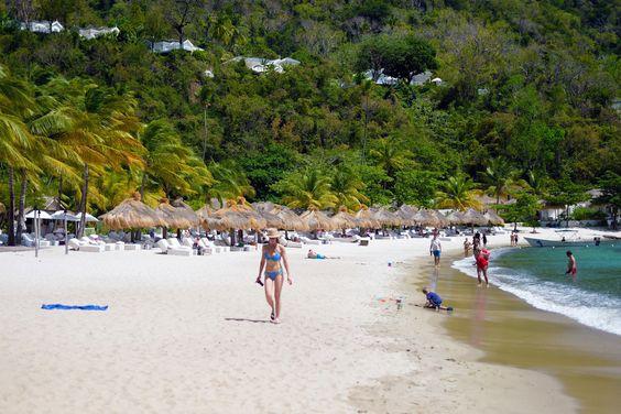Anse Des Pitons beach St. Lucia