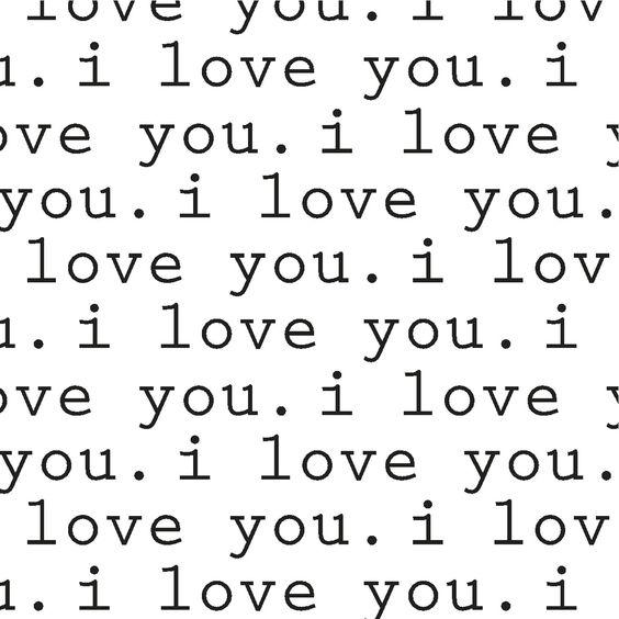 i love you. #print #art