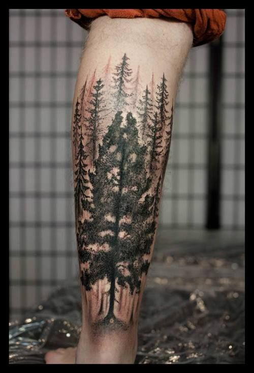Tree Tattoos For Men Tree Tattoo Design On Leg Best Tattoo For Men Awesome Tree Tattoo Tattoosmensforearm Tattoosformenonleg Tattoos For Guys