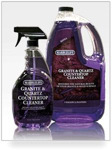 how to clean grease off granite