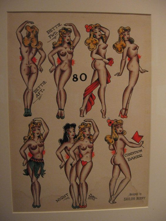 Pin ups tattoo by Sailor Jerry