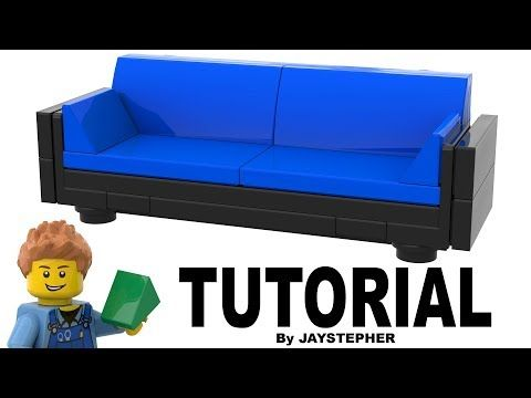 How To Build A Modern Blue Lego Sofa Diy Tutorial Youtube Lego Diy Projects Lego Room Lego