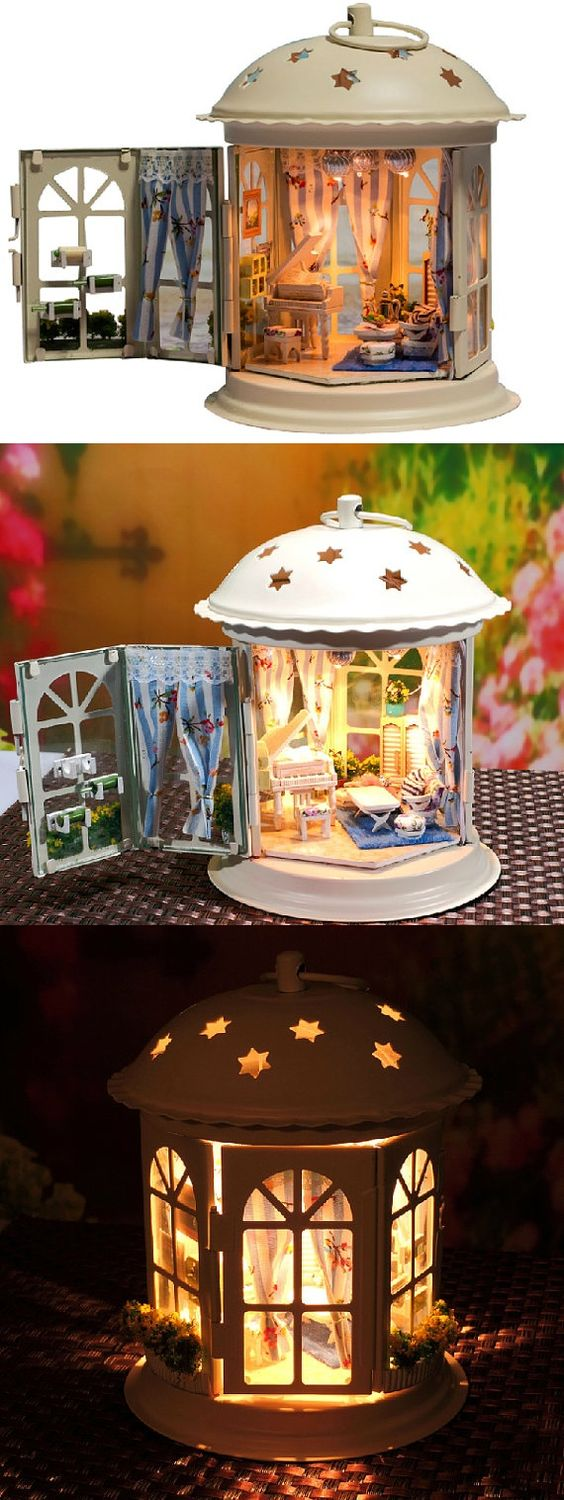 make a kit of everything I need and make with girls Dec 2016 lantern house - I need to try this. Looks like so much fun!: