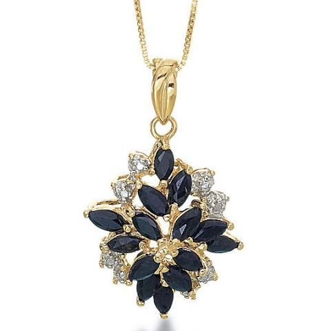 JC Penney Sapphire & Diamond-Accent Pendant at JCPenney (US get prod)