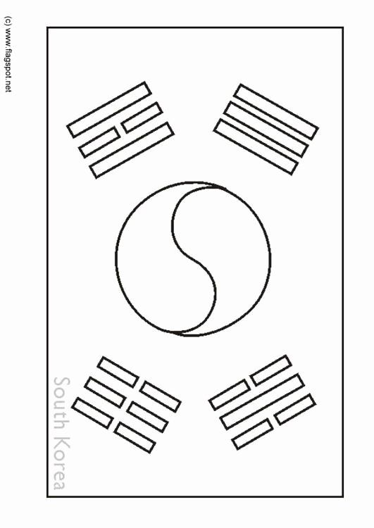 South Korean Flag Coloring Page Best Of Coloring Page Flag South