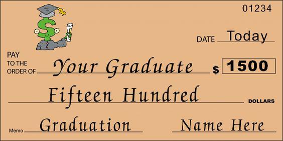 Custom Oversized Graduation Check : Front