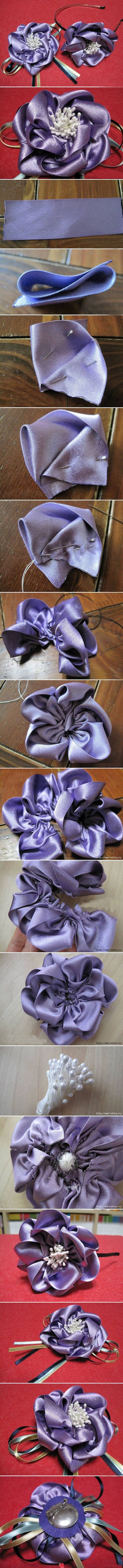 Ribbon flowers:
