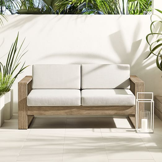 Portside Outdoor Loveseat Driftwood In 2020 Outdoor Sofa