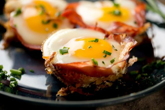 Baked Eggs & Ham with Sweet Potato Hash #justeatrealfood #realfoodpledge