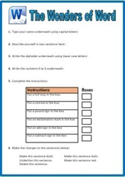 Worksheets Word Processing Worksheets word processing worksheets abitlikethis computer skills 1 microsoft word