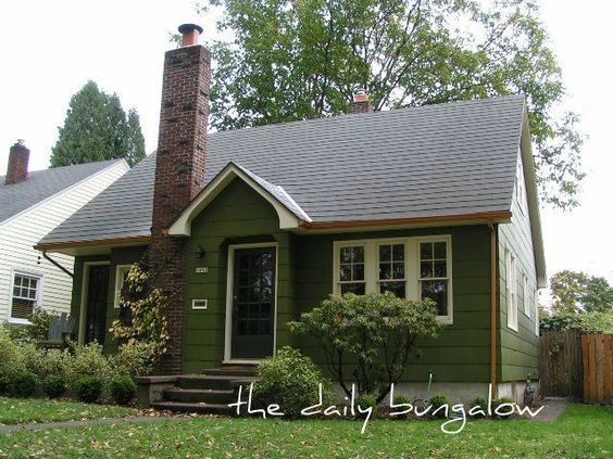 Olive Green Exterior Paint Color Exterior Color Schemes