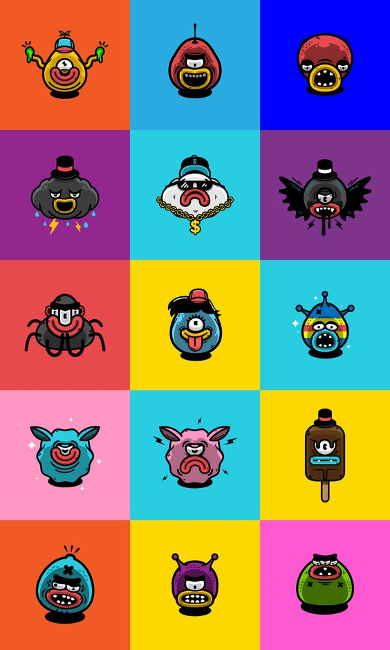 Funny animated characters experiment. on Behance
