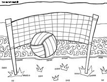Volleyball coloring pages Things I like Pinterest
