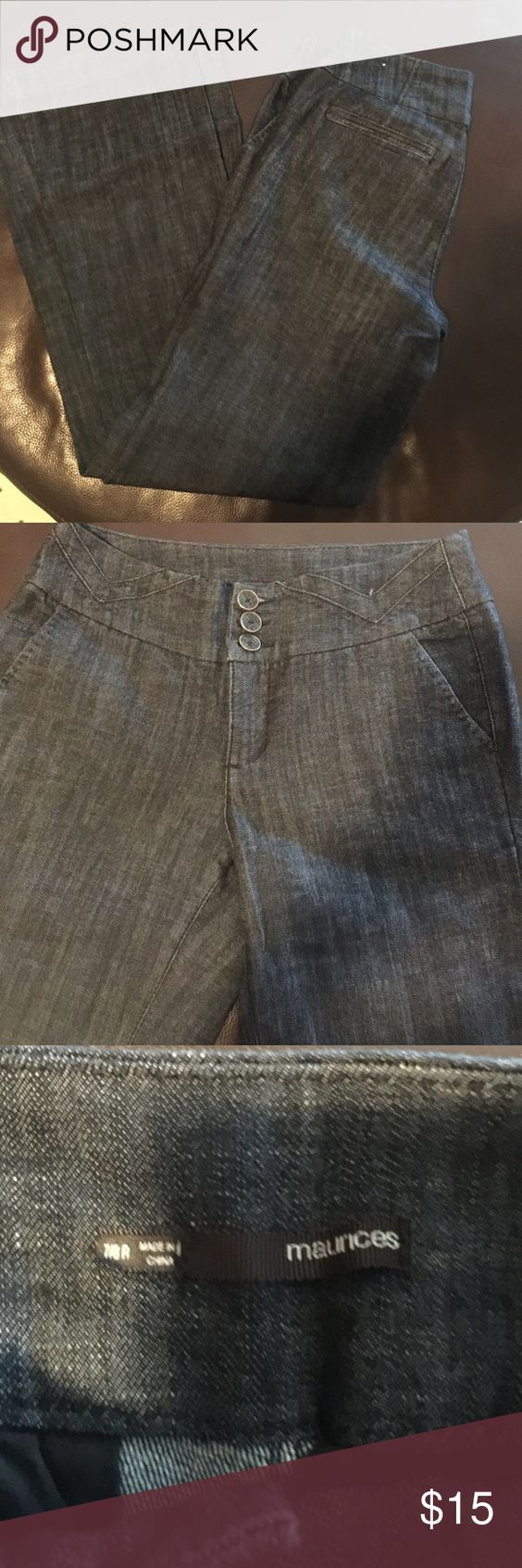Flare Leg High Waisted Jeans! Never worn! Very cute! Size 7/8 Regular. Very soft material. Maurices Jeans Flare & Wide Leg