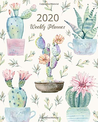 Cactus Planner 2020 Weekly and Monthly Planner Pretty Watercolor Planner #cactus #gifts #planner #giftsformom #giftsforher Grab this beautiful succulent cactus watercolor planner for the new year! Running from January 1, 2020 until December 31, 2020, every month contains monthly, weekly and daily overviews with areas for to-do lists, prioritizing, reminders and self-care. It includes inspirational quotes to keep you motivated and on schedule. Great for personal and business planning.