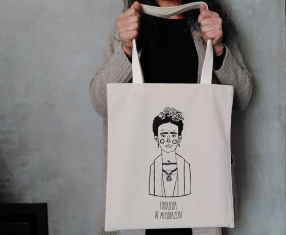 Tote Bag  Screenprint Over Cotton Canvas Tote Bag by IronicLisbon