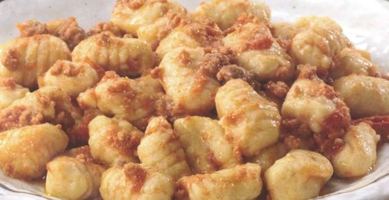 ⇒ Le nostre Bimby Ricette...: Bimby, Gnocchi di Ceci al Ragù