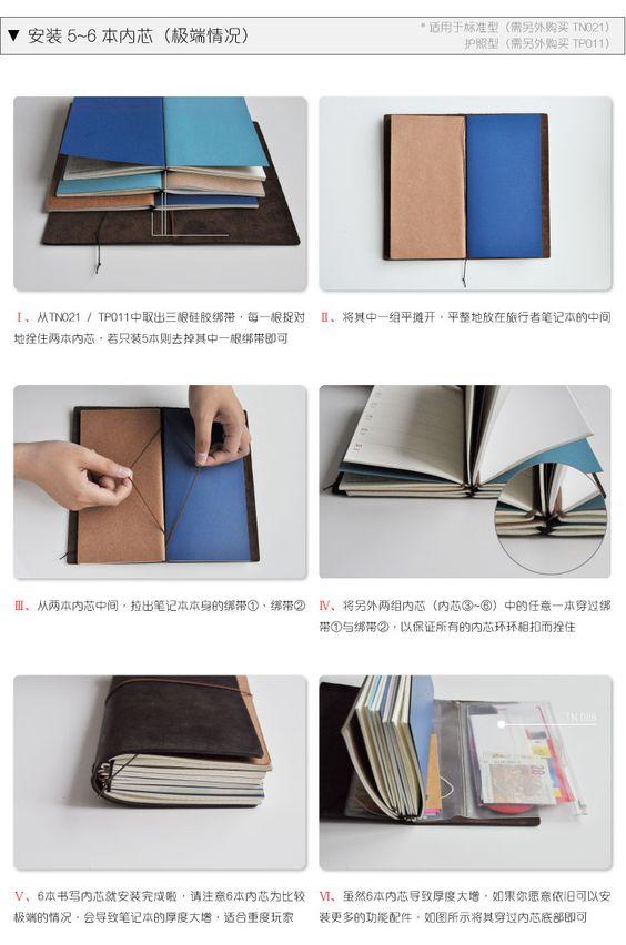 cómo montar cuadernillos en notebook, midori:
