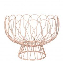 Portafrutta in metallo, colore rosa pesca. Un oggetto dal design contemporaneo perfetto per dare un tocco di colore in più alla tua cucina.