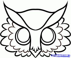 Image result for free printable owl mask templates