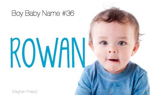 baby name: Rowan