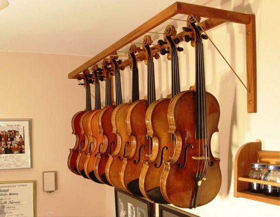 Violin wall hanger ideas for Violin decorating ideas