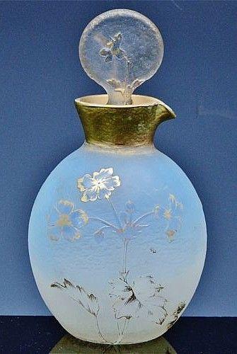 Nancy Daum French Cameo art glass perfume bottle, c1910. #bottle