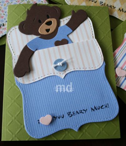Pajama party card- super cute and easy- no bear required.