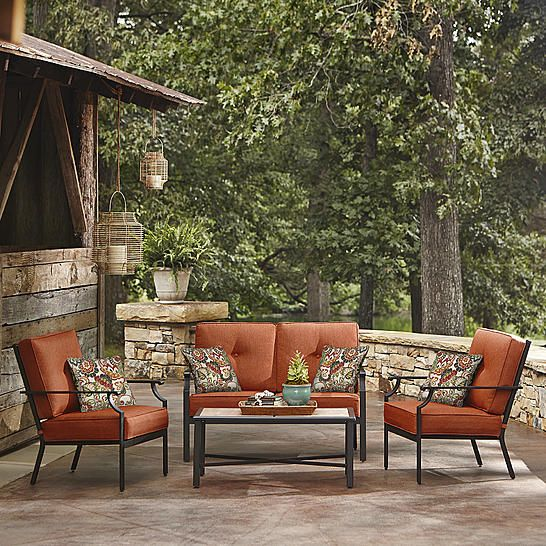 La Z Boy Outdoor Bradford 4 Pc Seating Set