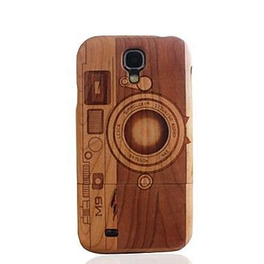 Nastiashop.com  @ Samsung Galaxy S4 i9500 Camera M9 Wood Cherry Wood Case Cover - Cheap Samsung Galaxy S4 Cases - Galaxy S4 Cases #samsung cases -  girl  #fashion -  #cute -  popular