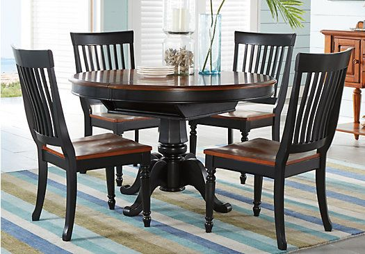 Shop For A Cindy Crawford Home Ocean Grove Black 5 Pc Dining Room Amusing Rooms To Go Dining Sets Review