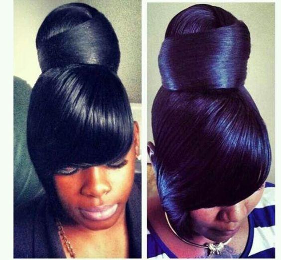 Amazing Buns Protective Styles And Hair On Pinterest Short Hairstyles Gunalazisus