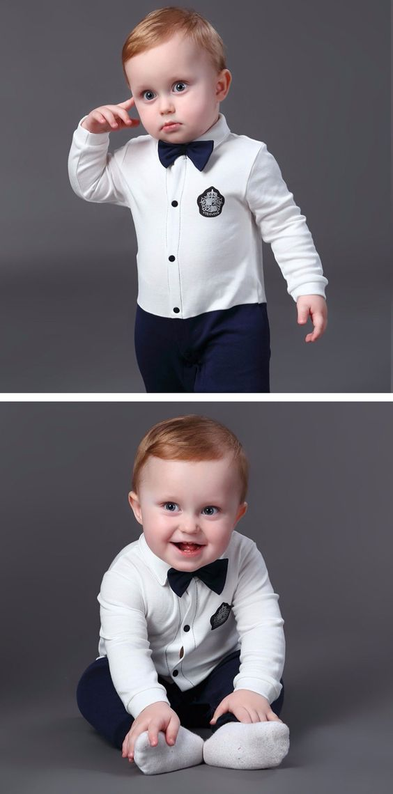Very good! well tailored, the fabric is also very good. only it came with a defect, the label was sewn on the outside of clothing, but gives to pluck out. and still came a toast socks. Newborn Baby Boy Rompers 100% Cotton Tie Gentleman Suit Bow Leisure Body Suit Clothing Toddler Jumpsuit Baby Boys Brand Clothes